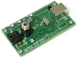 Evaluation board for MLX90614 Digital, plug & play, infrared thermometer in a TO-can