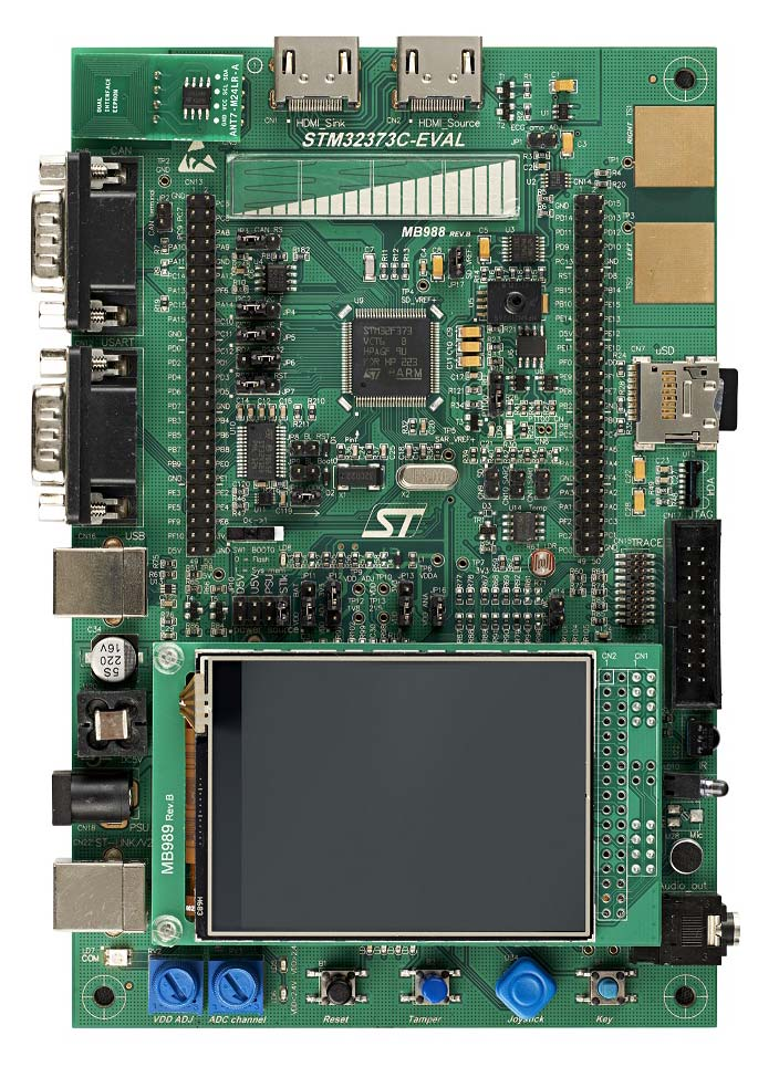 Evaluation board with STM32F373VC MCU