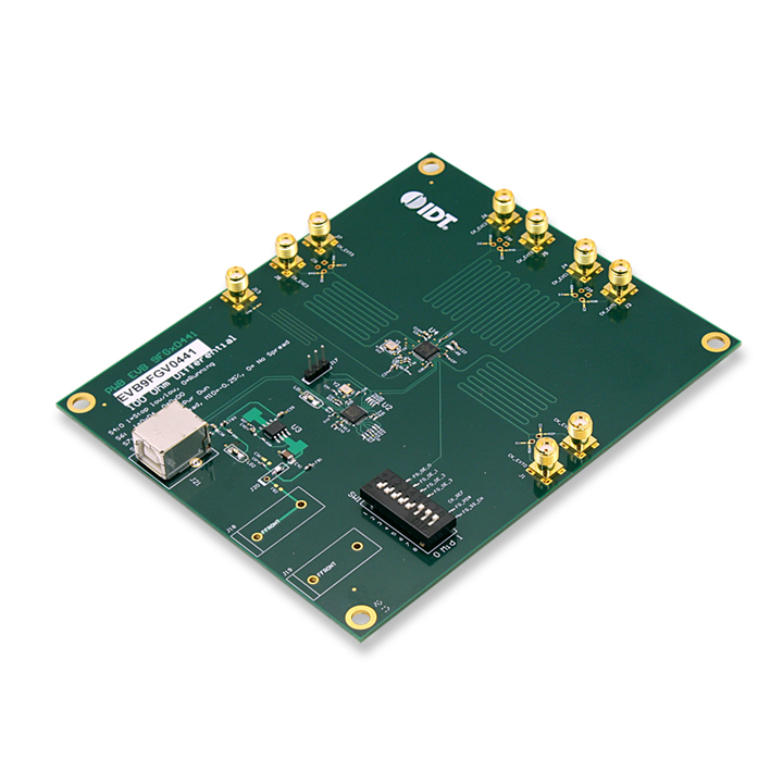 Evaluation Board for the 4 Output 1.8 V PCIe Gen1-2-3 Clock Generator w/Zo=100 Ω