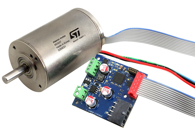 Compact reference design kit for robotics and automation based on STSPIN32F0A