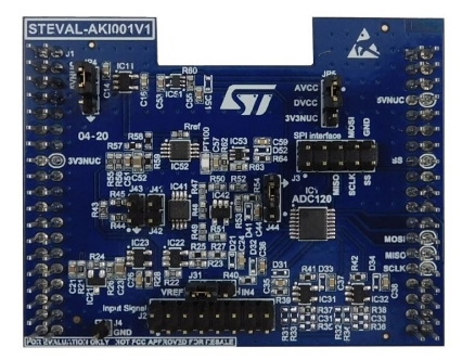 Evaluation board for the ADC120 8-channel, 50ksps to 1Msps, 12-bit analog to digital converter