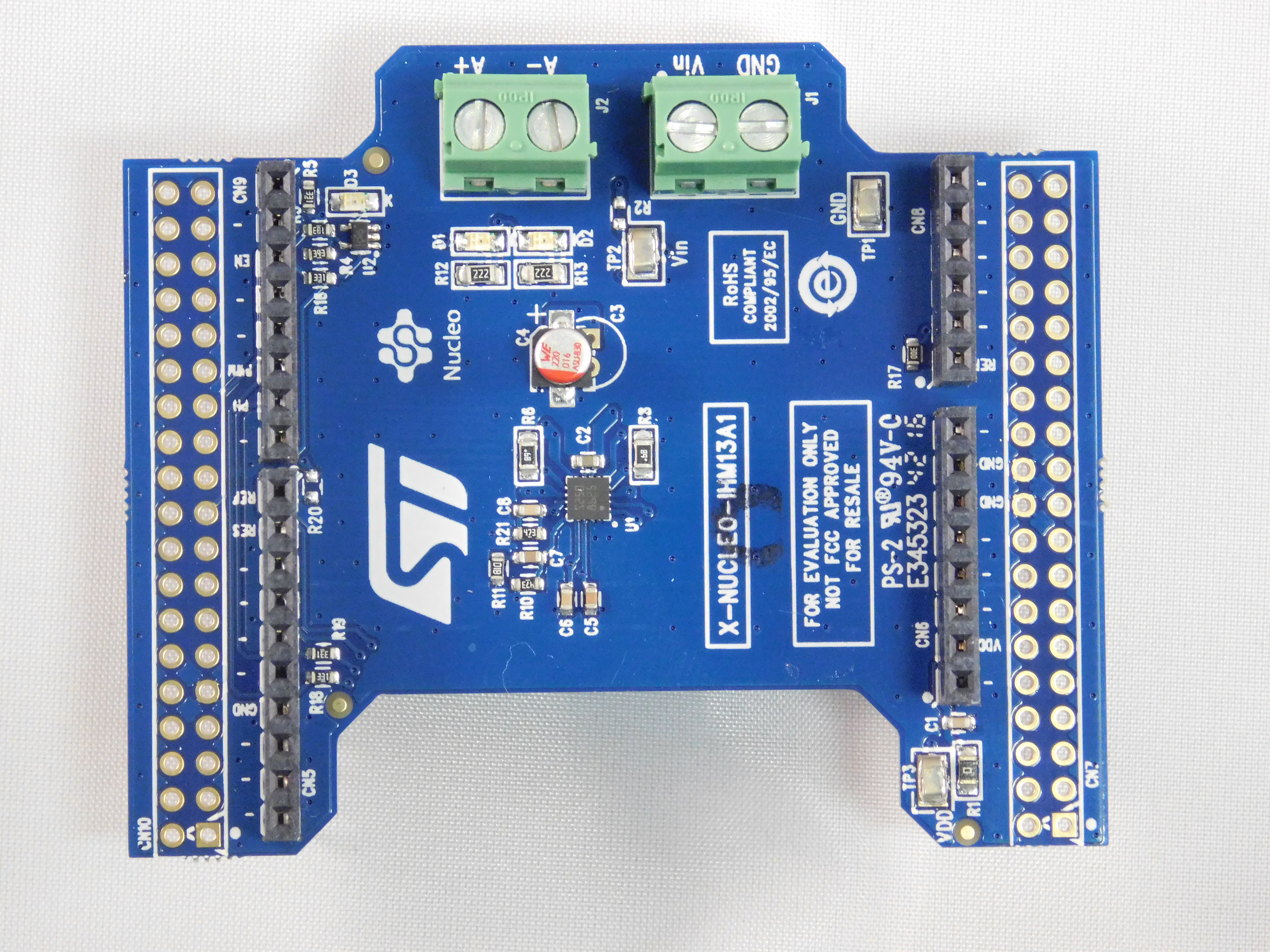 Low voltage brush DC motor driver expansion board for STM32 Nucleo based on the STSPIN250