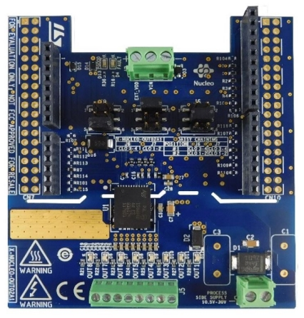 Industrial digital output expansion board based on ISO8200AQ for STM32 Nucleo