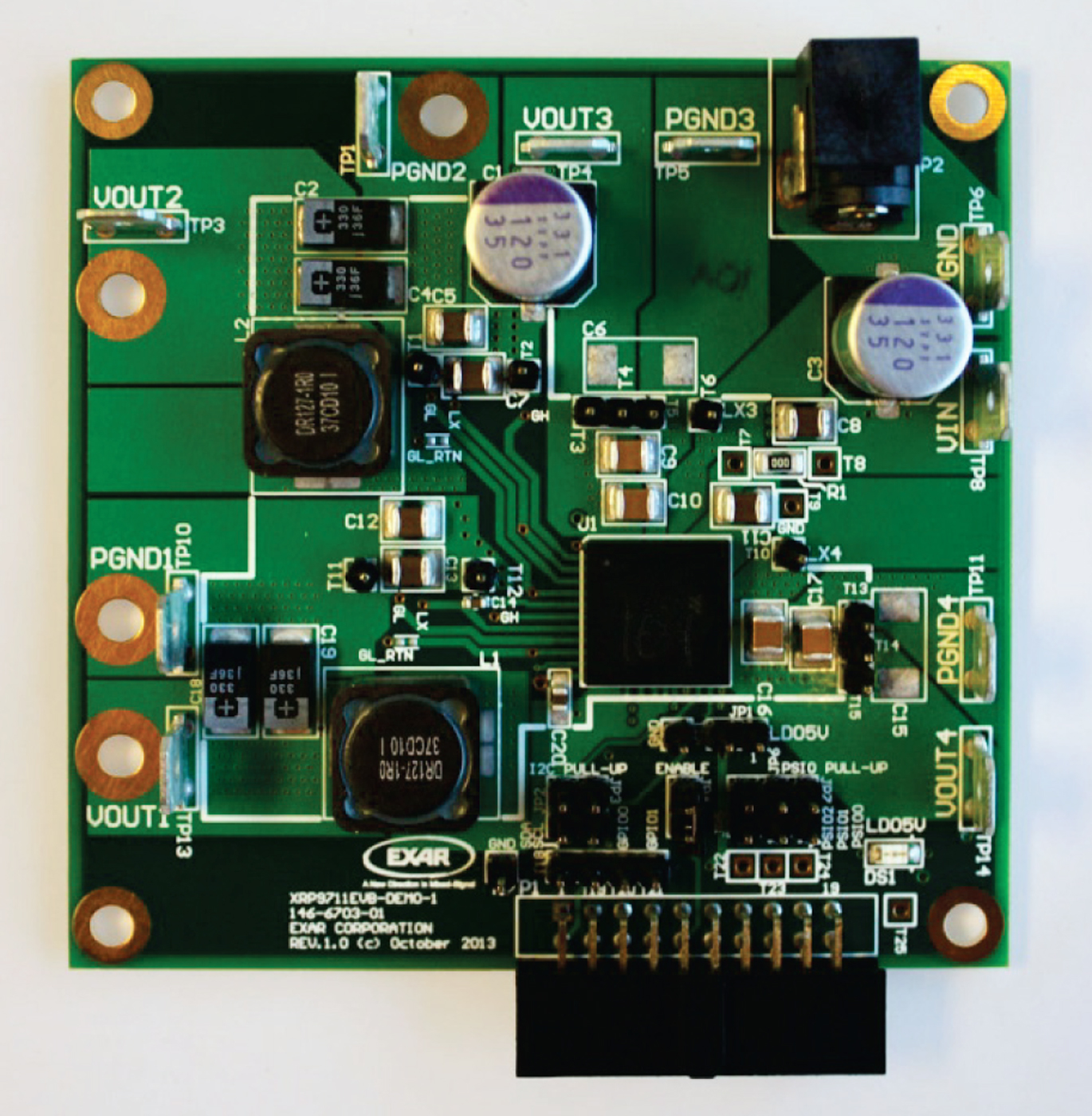 Quad Channel Digital PWM/PFM Programmable Power Management System Demo Board