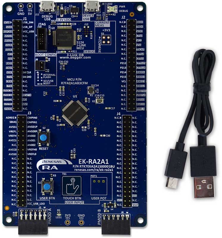 Evaluation Kit for RA2A1 MCU Group