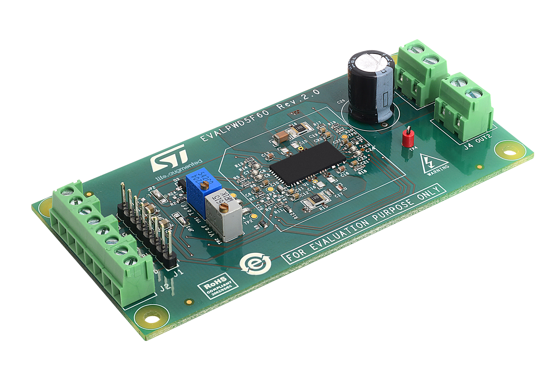 Demonstration board for PWD5F60 smart driver with integrated high voltage full bridge