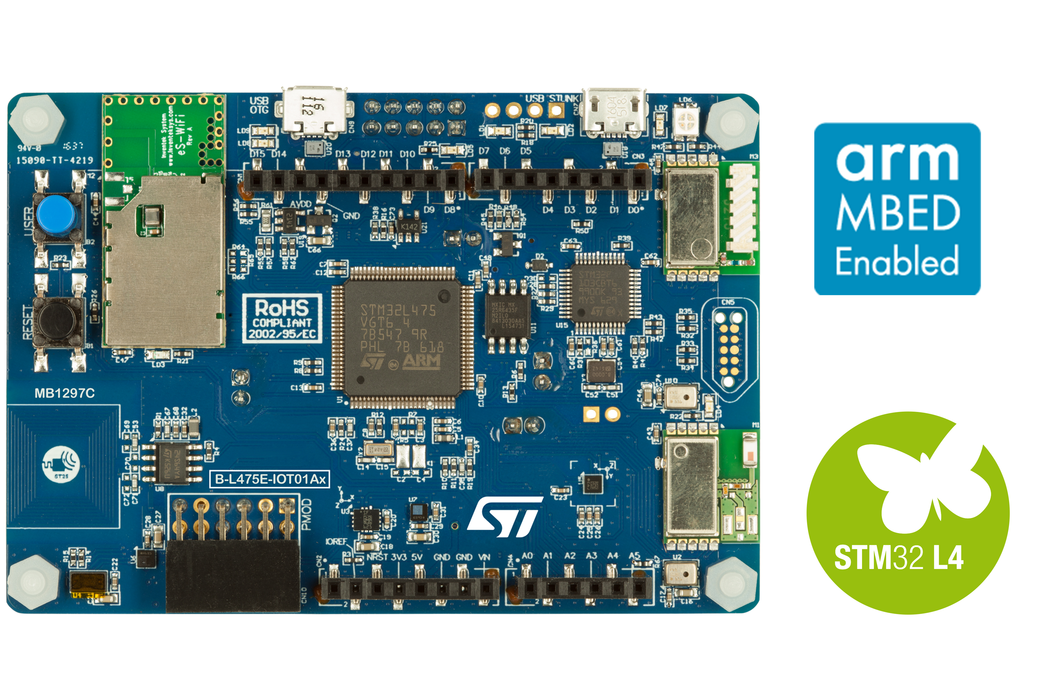 STM32L4 Discovery kit IoT node, low-power wireless, BLE, NFC, SubGHz, Wi-Fi