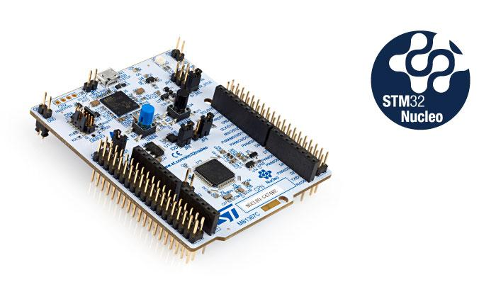 STM32 Nucleo-64 development board with STM32G431RB MCU, supports Arduino and ST morpho connectivity