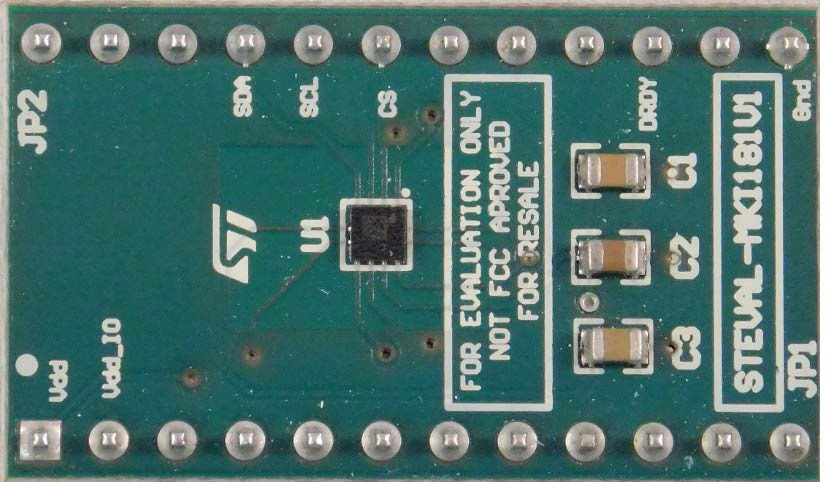LIS2MDL adapter board for a standard DIL24 socket