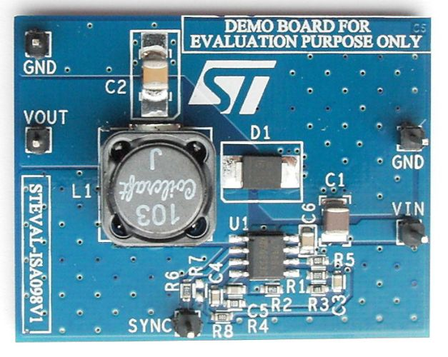 2 A step-down switching demonstration board based on the L7985A in HSOP8 package