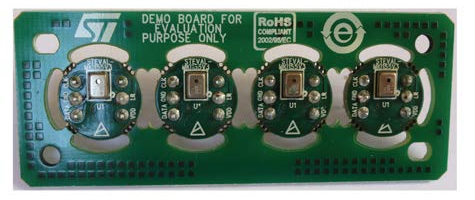 Microphone coupon board based on the MP34DT01-M digital MEMS microphone