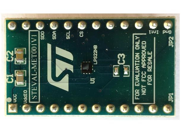 LPS22HB adapter board for a standard DIL 24 socket