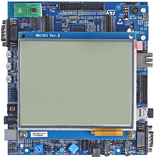 Evaluation board with STM32F756NG MCU