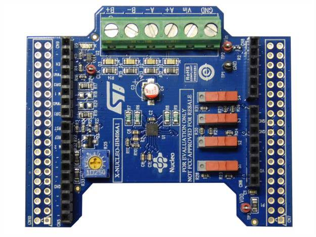 Low voltage stepper motor driver expansion board based on the STSPIN220 for STM32 Nucleo