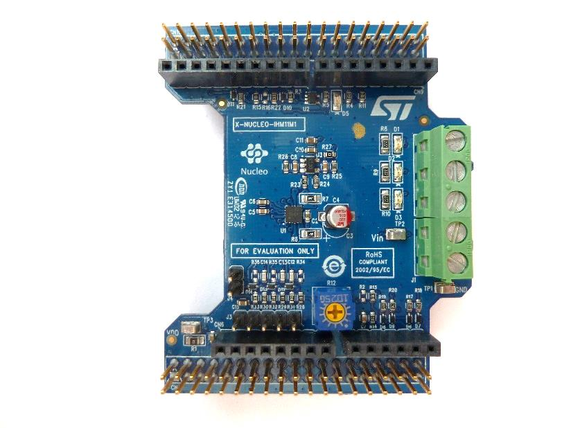Low voltage three-phase brushless DC motor driver expansion board based on STSPIN230 for STM32 Nucleo